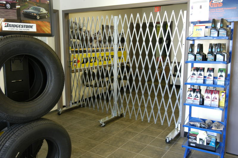 Tire Store Portable Access Gates
