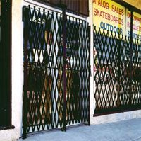 Keep you business safe after hours with scissor security door gates.