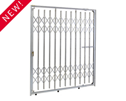 Top & BottomTrack Storefrront Metal Folding Security Gate