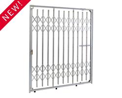 Top & BottomTrack Storefrront Metal Folding Security Gate