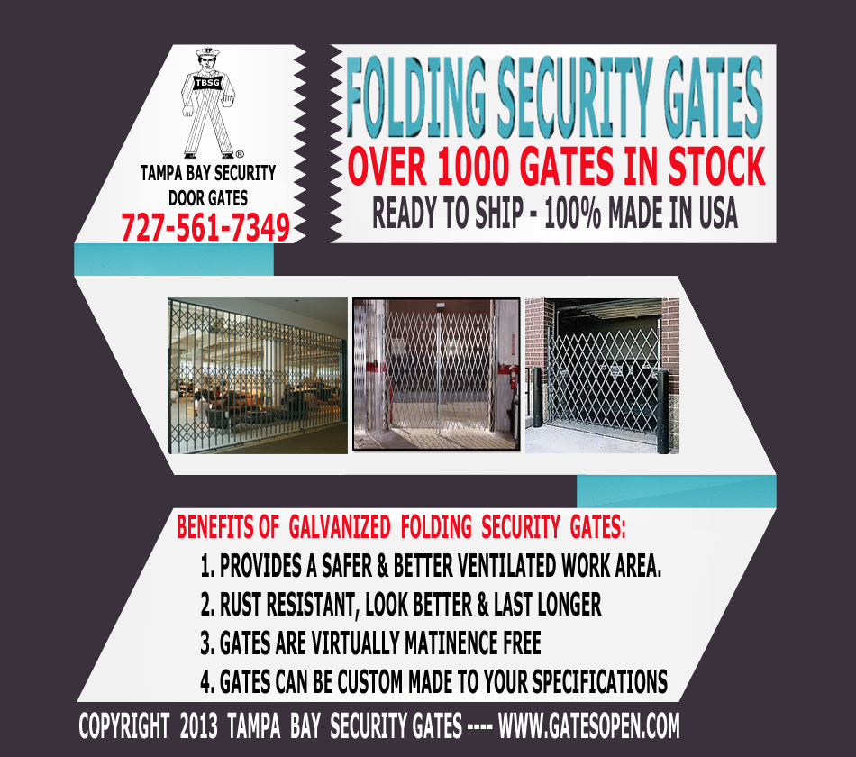 Commercial Folding Security Scissor Gates
