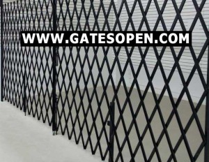 Gallvanized Warehous Doorway Folding Security Gates Made 100% In The USA