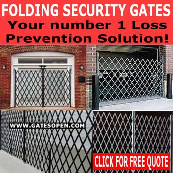 Industrial & Commercial Folding Security Gate