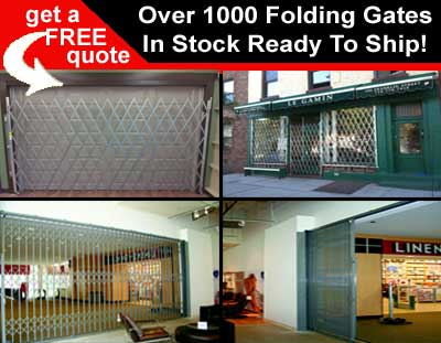 Over 1000 Prefabricated Security Scissor Gates In Stock & Ready To Ship