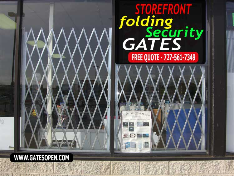 Folding Storefront Folding Scissor Gate Sales, Installation & Custom Design Services. Made 100% In The USA